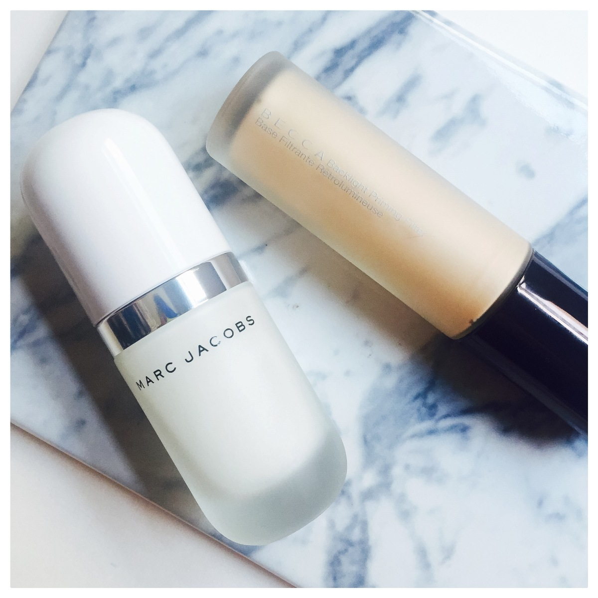 High-end Primers: Becca vs. Marc Jacobs